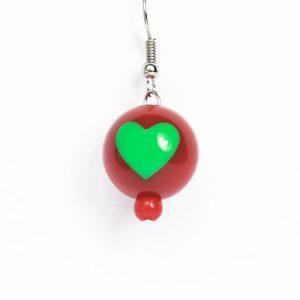 Green Heart Earring