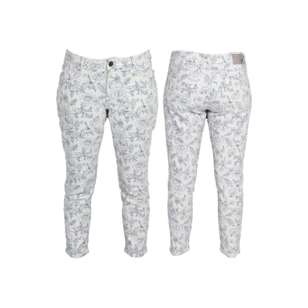 55438 Lucca 7/8 Printed Pants Blue Floral
