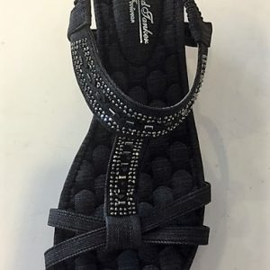 3241-Y569 Sandal med kinahæl i koksgrå