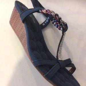 S206-3 Sandal med kinahæl i blå