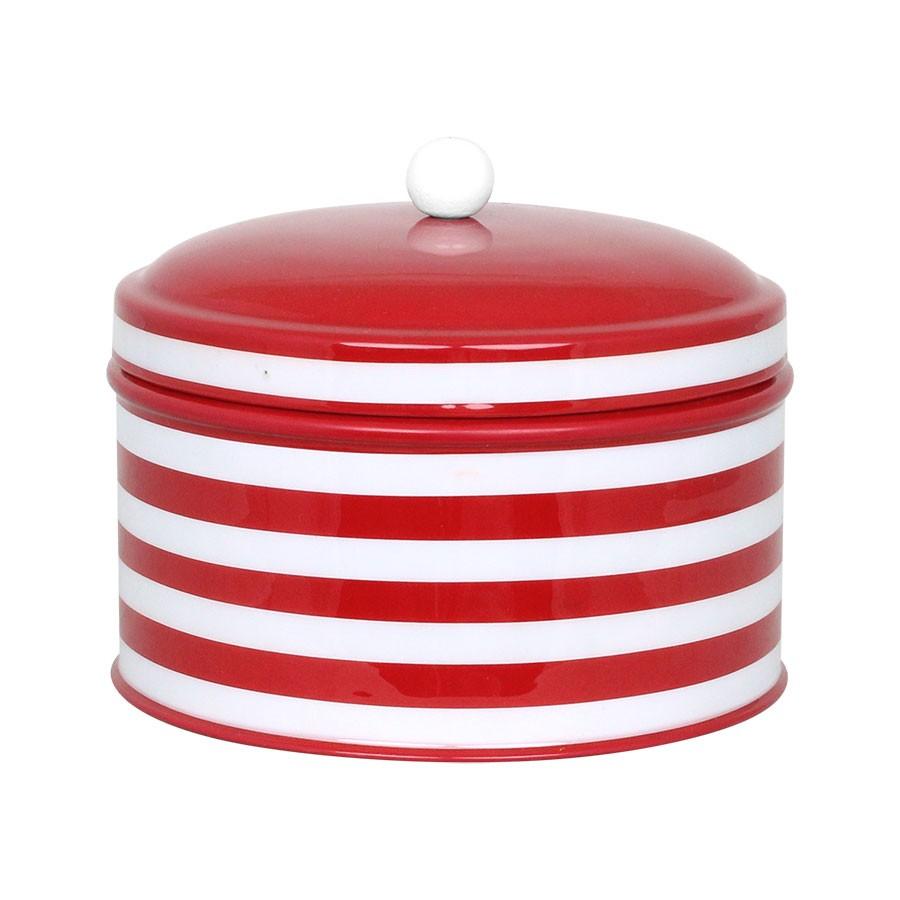 661004 Lufttæt beholder i rød med striber