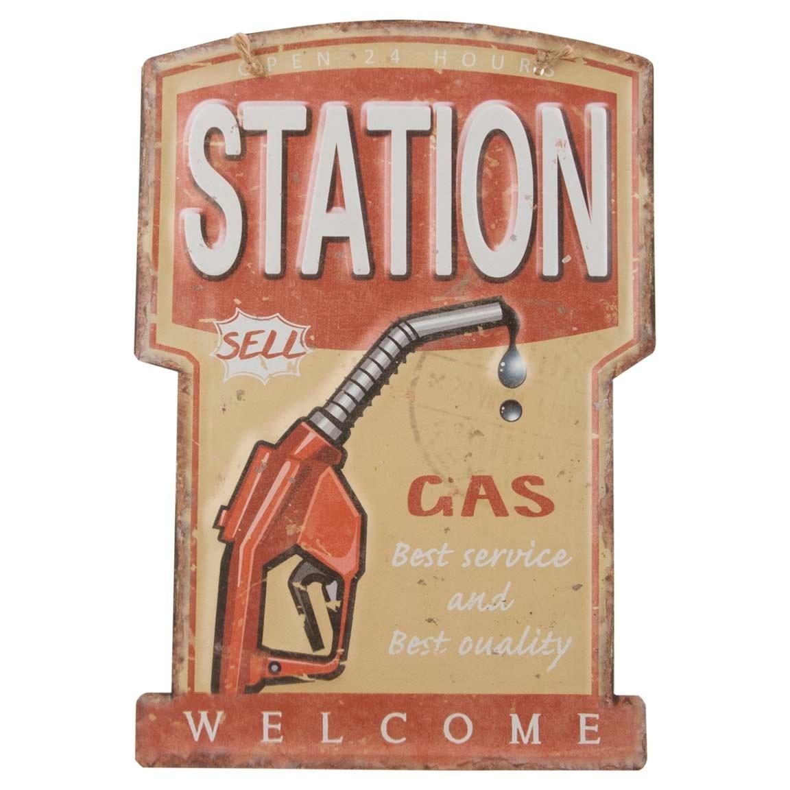 39-219 Metalskilt Station