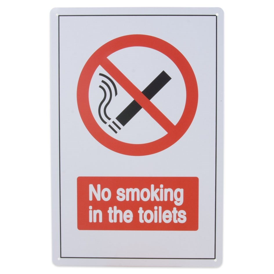 39-308 Metalskilt No Smoking