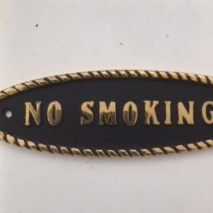 32-2905 Messingskilt No Smoking