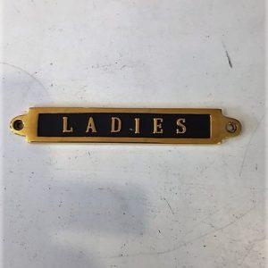 Messingskilt Ladies