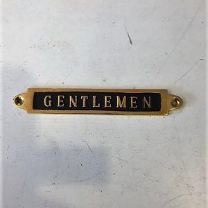 Messinskilt Gentlemen