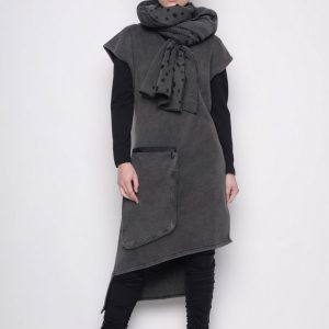 Sublime Holes Tunic - Cold Dyed Grey