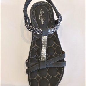 206-3 / grå - Flad sandal