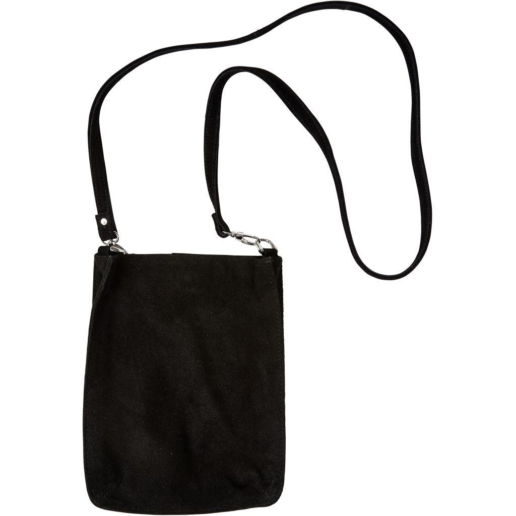 Lædertaske i ruskind Adelia Bag i sort0925 01