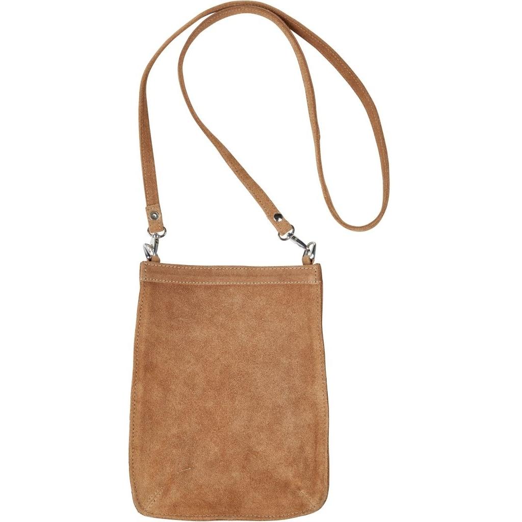 Lædertaske i ruskind Adelia Bag i Camel farve 0925 01