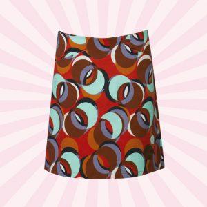 Printed nederdel med stræk