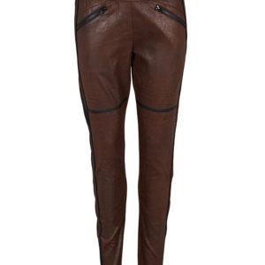rå leggings i brun