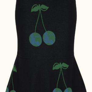 Printet nederdel med volangekant