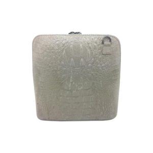 Lædertaske i croco