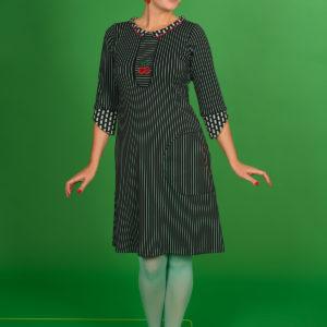 printed kjole med god A-facon